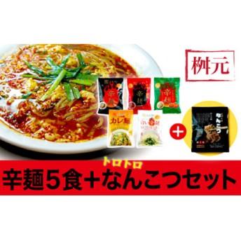 元祖辛麺 桝元 生麺パック5食+なんこつセット