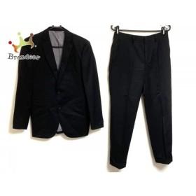 ジュンメン JUN MEN シングルスーツ サイズM メンズ 黒 シングル/肩パッド/ストライプ   スペシャル特価 20190726
