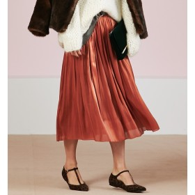 【ルージュ・ヴィフ ラクレ/Rouge vif la cle】 サテンギャザースカート