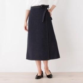 オペークドットクリップ(OPAQUE.CLIP)/デニムロングラップスカート