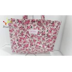 レストローズ L'EST ROSE トートバッグ 美品 ピンク×レッド×グリーン 花柄 化学繊維   スペシャル特価 20190808