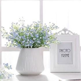 [母の日ギフト] かすみそう 人工造花 インテリアフラワー 花ホーム ウェディング ブライダルブーケ パーティー装飾 観賞植物 撮影に 誕生日プレゼント 母の日ギフト1本花数90個 ブルー
