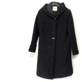 【中古】 レネール LENER コート サイズ42 L レディース 黒 Leilian/冬物