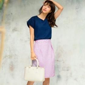 PATTERN fiona パターン フィオナ メッシュ×レースボンディングタイトスカート