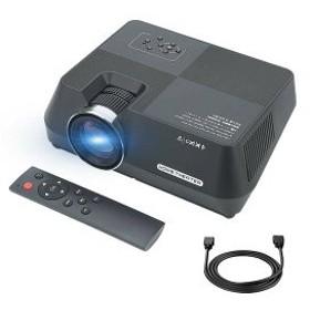 PTVDISPLAY LED プロジェクター 小型 ホームシアター 1080PフルHD対応 台形補正 パソコン/スマホ/タブレット/ゲーム機など接続可 USB/SD