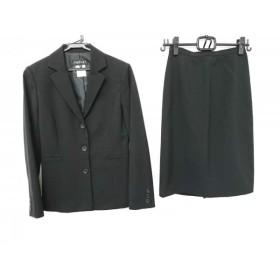 【中古】 インディビ INDIVI スカートスーツ サイズ36 S レディース 黒