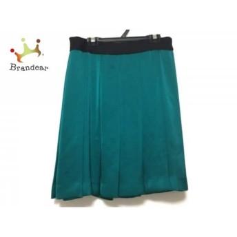 ドレステリア DRESSTERIOR スカート サイズ36 S レディース グリーン×黒 プリーツ スペシャル特価 20190730