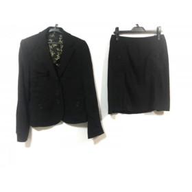 【中古】 ポールスミスブラック PaulSmith BLACK スカートスーツ サイズ42 L レディース 美品 黒