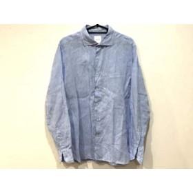 【中古】 マッキントッシュフィロソフィー MACKINTOSH PHILOSOPHY 長袖シャツ サイズ40 M メンズ ブルー