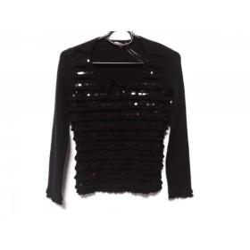 【中古】 トゥービーシック 長袖セーター サイズ2 M レディース 黒 フリル/スパンコール/リボン