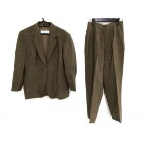 【中古】 マックスマーラ レディースパンツスーツ サイズUSA 8 レディース ベージュ ダークブラウン