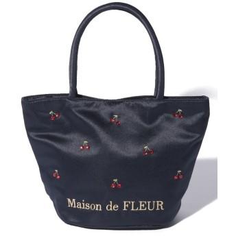 【10%OFF】 メゾンドフルール チェリートートバッグ レディース ネイビー FREE 【Maison de FLEUR】 【タイムセール開催中】