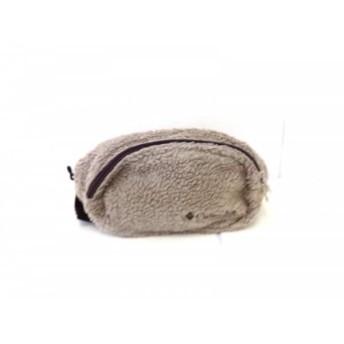 【中古】 コロンビア columbia ウエストポーチ ベージュ 黒 ウール 化学繊維