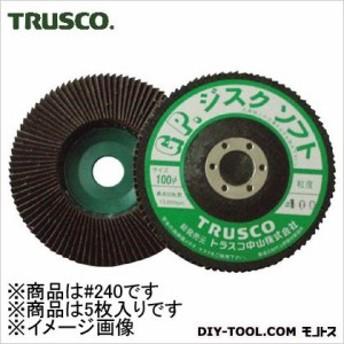 トラスコ GPディスクホイールソフト 斜め植え 外径100φ 240# (GP100S) 5枚