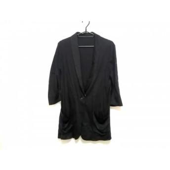 【中古】 インディビ INDIVI ジャケット サイズ38 M レディース 黒 ロング丈/春・秋物