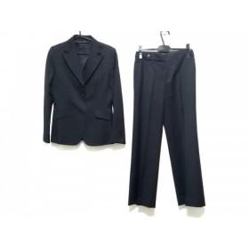 【中古】 バーバリーロンドン レディースパンツスーツ サイズ38 L レディース 黒 ライトブルー