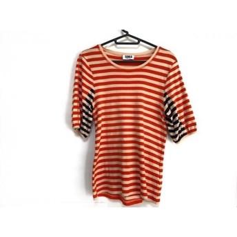 【中古】 ソニアリキエル Tシャツ サイズS レディース ベージュ オレンジ ネイビー ボーダー