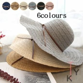 帽子 レディース 送料無料 UVカット 折りたたみ つば広 麦わら 夏 日よけ 大きいサイズ 小顔効果 旅行 おしゃれ 日焼け止め 30代40代50代