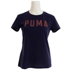 プーマ(PUMA) 【ゼビオグループ限定】 PUMA ロゴ 半袖Tシャツ 845505 17 NVY (Lady's)