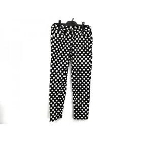 【中古】 ケイトスペード Kate spade パンツ サイズ24 レディース 黒 白 リンゴ