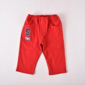 スラップスリップ(SLAP SLIP)/スーパーストレッチワッペン付6分丈パンツ