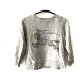 【中古】 バーバリー Burberry トレーナー サイズ10Y140 ユニセックス グレー 子供服/CHILDREN