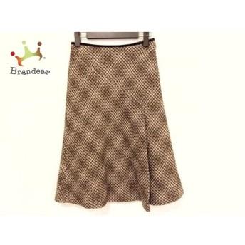ニジュウサンク スカート サイズ36 S レディース 美品 ダークブラウン×ブラウン×アイボリー スペシャル特価 20190810