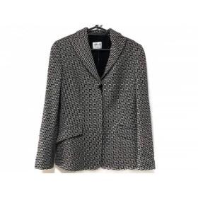 【中古】 アルマーニコレッツォーニ ジャケット サイズ40 M レディース 黒 アイボリー 肩パッド