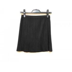 【中古】 プリーツプリーズ PLEATS PLEASE ミニスカート サイズF レディース 黒 プリーツ