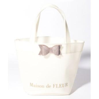 【10%OFF】 メゾンドフルール グリッターリボントートバッグ レディース アイボリー FREE 【Maison de FLEUR】 【タイムセール開催中】