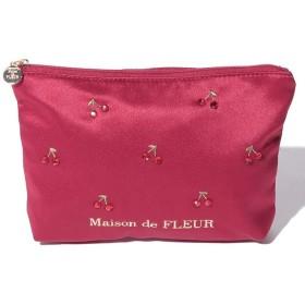 【10%OFF】 メゾンドフルール チェリーポーチ レディース レッド FREE 【Maison de FLEUR】 【タイムセール開催中】