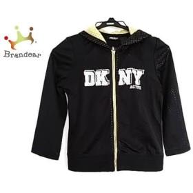 ダナキャラン DKNY パーカー サイズXS レディース 美品 黒×白×イエロー ACTIVE  値下げ 20191124