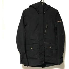 【中古】 ロキシー Roxy コート レディース 黒 冬物/スノーボードウエア