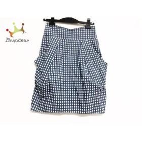 ドゥーズィエム スカート サイズ36 S レディース 美品 白×ネイビー×黒 チェック柄     スペシャル特価 20191123