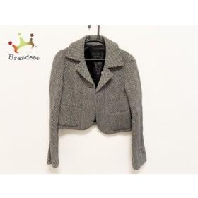 ブランベール blancvert ジャケット サイズ40 M レディース 白×黒   スペシャル特価 20190806【人気】