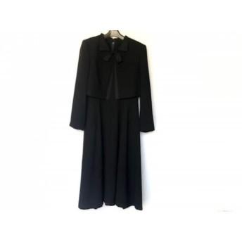 【中古】 トウキョウイギン TOKYOIGIN ワンピーススーツ サイズ13AR M レディース 黒 リボン