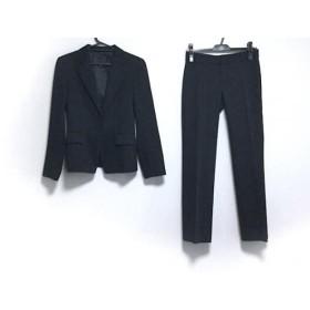 【中古】 アンタイトル レディースパンツスーツ サイズ1 S レディース 美品 黒 ライトグレー ストライプ