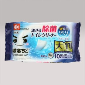 レック 流せる除菌トイレクリーナー大判10枚|4903320043350(tc)