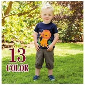 半袖TシャツTシャツ子供服こども服ボーイズガールズキッズ男の子女の子トップスプルオーバープリント刺繍お洒落可愛いかわいい