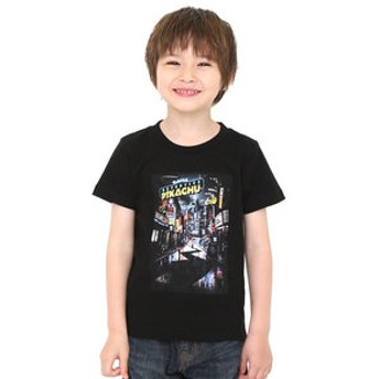 【グラニフ:トップス】キッズTシャツ/ポスター(映画「名探偵ピカチュウ」)