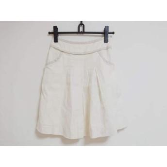 【中古】 ジャスグリッティー JUSGLITTY スカート サイズ1 S レディース アイボリー ベージュ