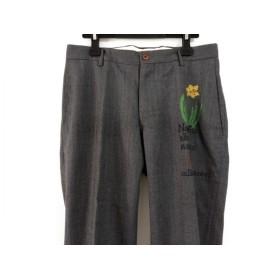 【中古】 シアタープロダクツ THEATRE PRODUCTS パンツ メンズ グレー イエロー マルチ 刺繍