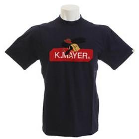 【Super Sports XEBIO & mall店:トップス】ブランドロゴサガラ刺繍 Tシャツ トレック 1857214-4-NVY