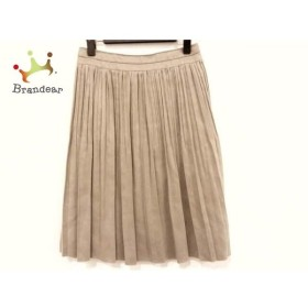 ニジュウサンク 23区 スカート サイズ36 S レディース 美品 ライトブラウン プリーツ   スペシャル特価 20190810