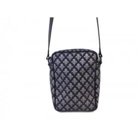 【中古】 パトリックコックス PATRICK COX ショルダーバッグ 黒 グレー PVC(塩化ビニール) レザー