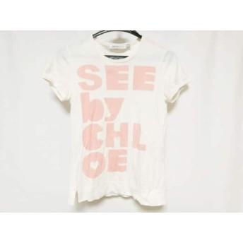【中古】 シーバイクロエ SEE BY CHLOE 半袖Tシャツ サイズ2 M レディース アイボリー ピンク