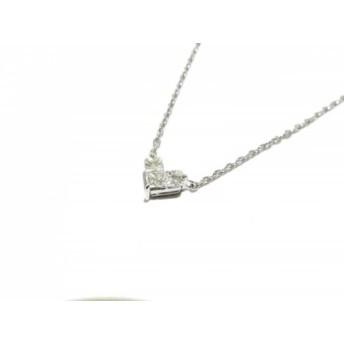 【中古】 スタージュエリー STAR JEWELRY ネックレス K18WG ダイヤモンド ハート/0.15カラット