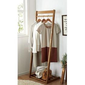 木製コートハンガー(サイズが選べる) - セシール ■カラー:アイボリー ライトブラウン ■サイズ:B(幅40),A(幅30),C(幅50)
