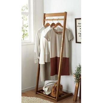木製コートハンガー(サイズが選べる) - セシール ■カラー:ライトブラウン ■サイズ:B(幅40),C(幅50)
