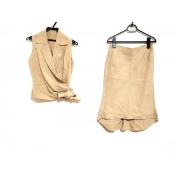【中古】 ノーベスパジオ NOVESPAZIO スカートセットアップ サイズ38 M レディース ベージュ